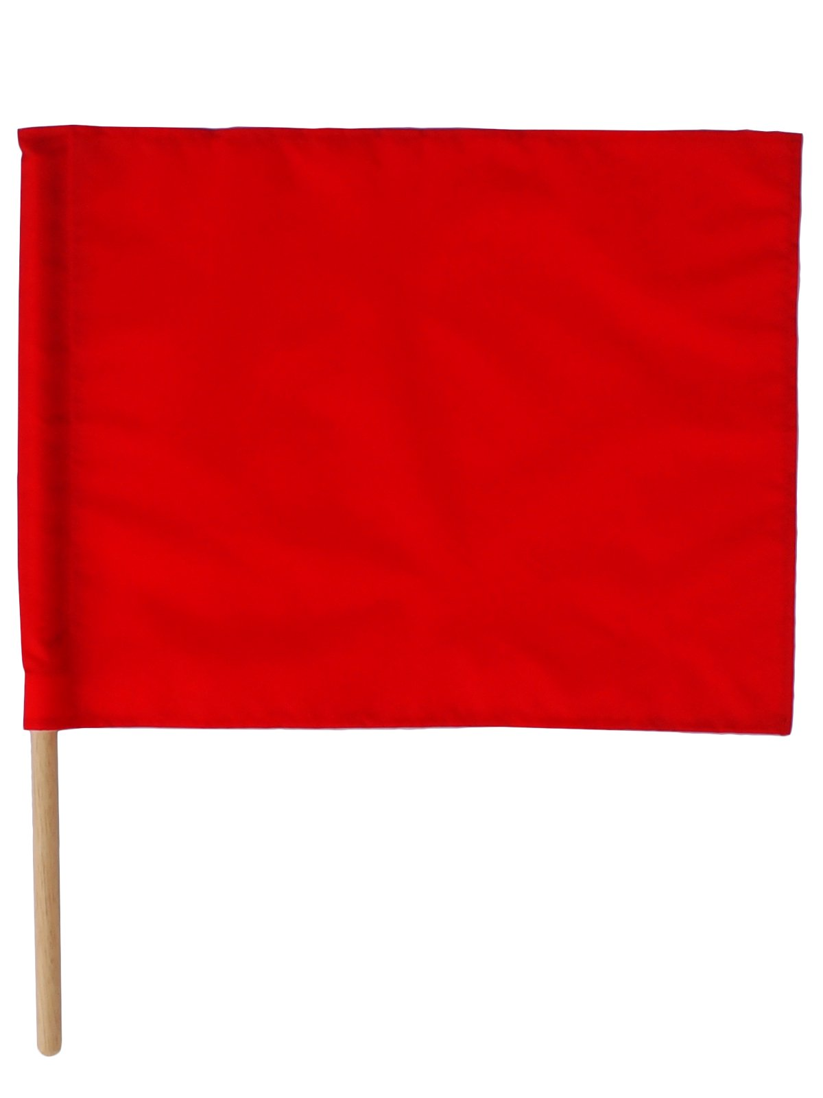 紅白手旗(旗棒付)小 30×40cm【画像2】