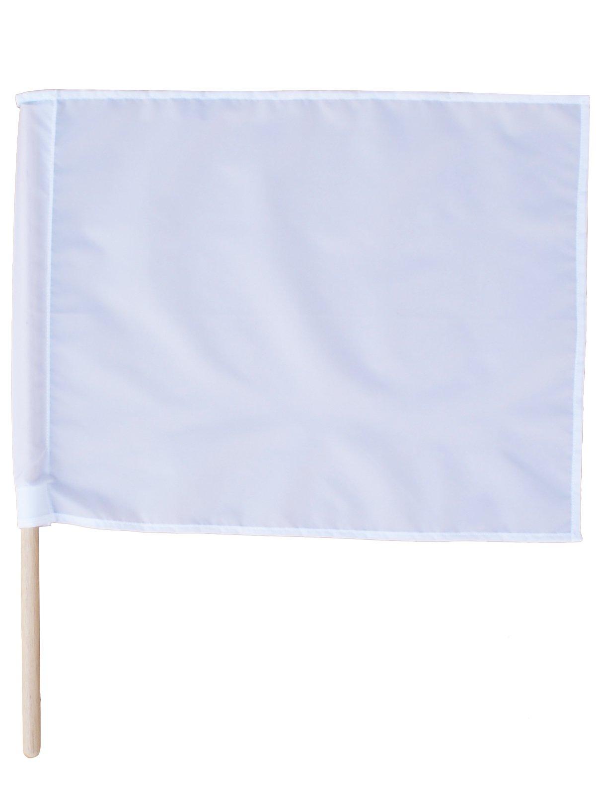紅白手旗(旗棒付)小 30×40cm【画像3】