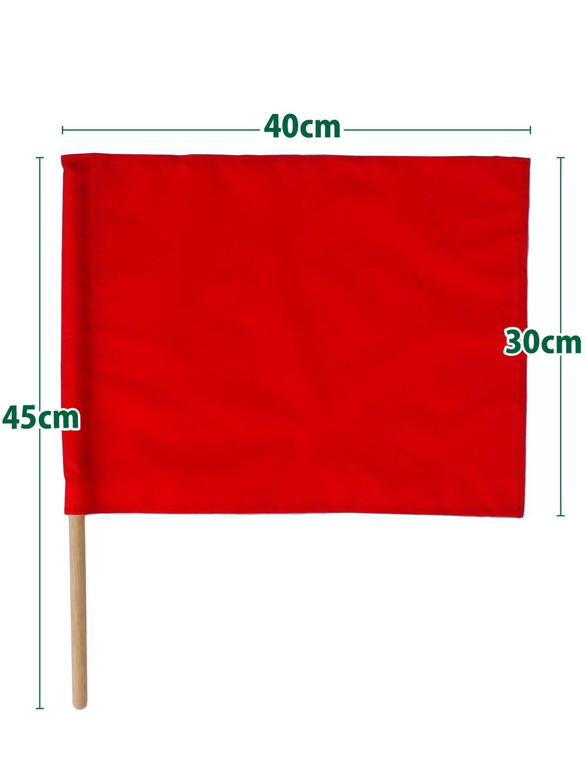 紅白手旗(旗棒付)小 30×40cm【画像4】