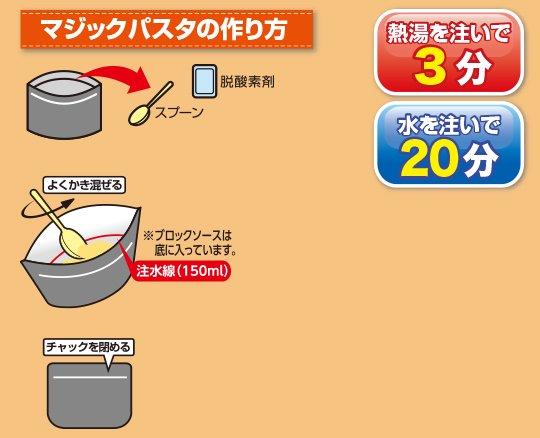 【5年保存】マジックパスタ 20食セット【画像6】