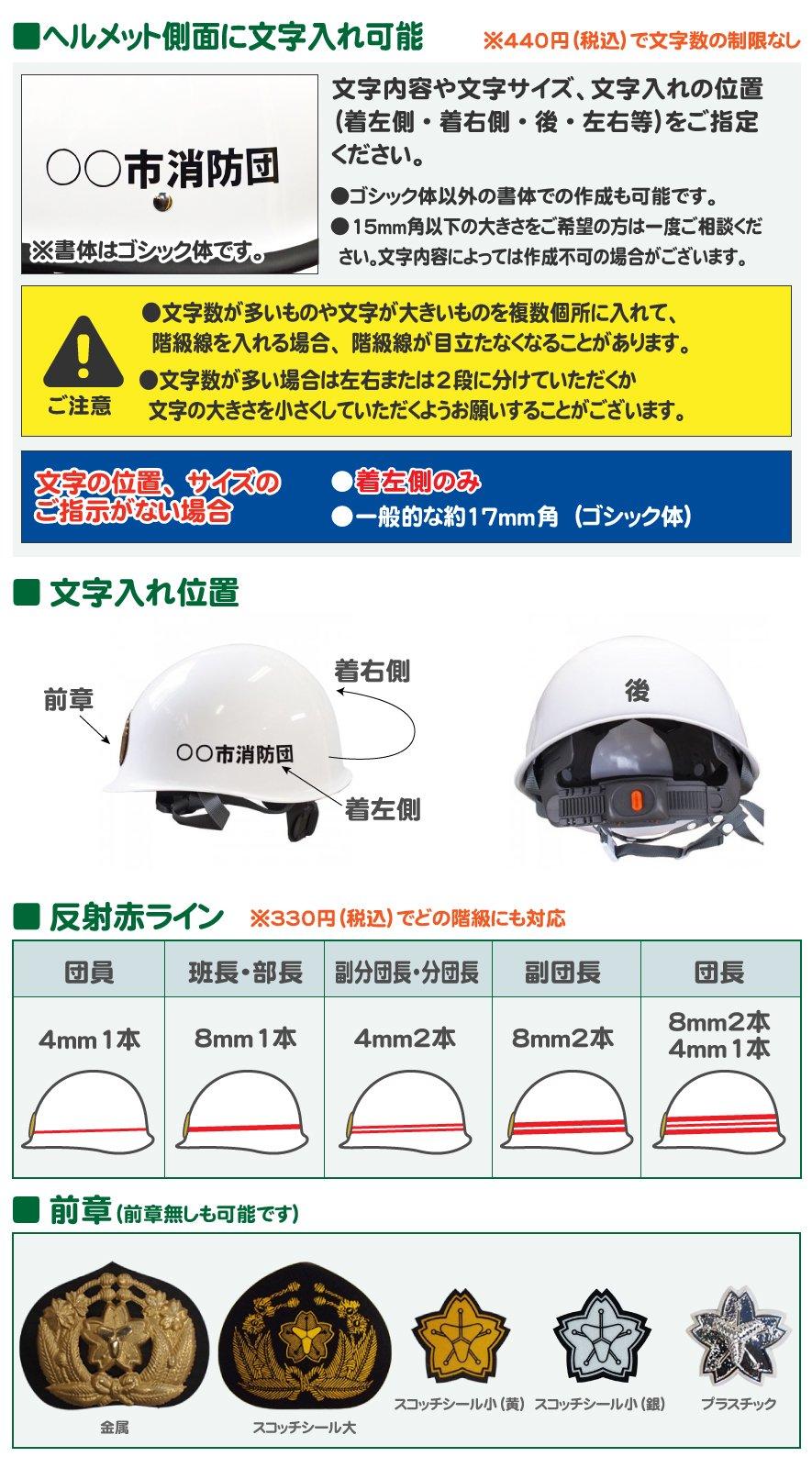操法ヘルメット軽量型 ABS製【画像6】