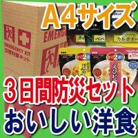 備えて安心A4サイズBOX 【3日間STAY非常食】 美味しい洋食と防災グッズセット