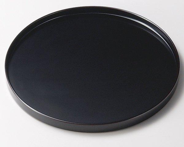 おめでたい場所では角のない丸盆 黒 日本製 送料無料/工芸品/通販/漆器/