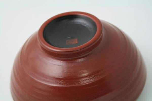 地の粉 大椀 古代朱 日本製 送料無料 写真その1