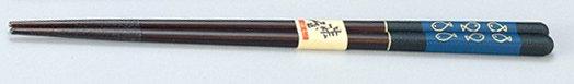 可愛いお魚の絵 魚 箸 黒 /工芸品/通販/漆器/