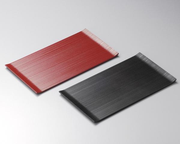 両折皿 黒と朱 ペア 日本製/工芸品/通販/漆器/