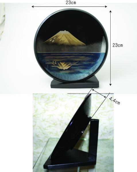 漆器贈答品に飾り皿 鏡富士の柄は最適です 世界文化遺産登録 日本製 送料無料 写真その1
