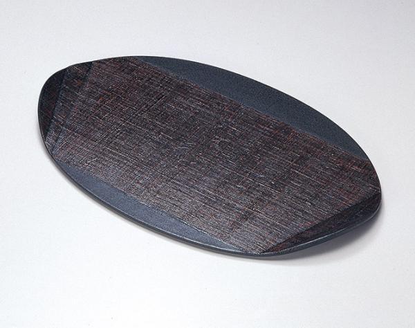 布を両面に貼り手に取りやすい形の木の葉膳布張り 日本製 送料無料/工芸品/通販/漆器/