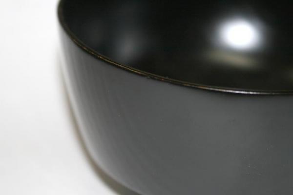 振袖汁椀 黒は手に取りやすい形です 日本製 送料無料 写真その1