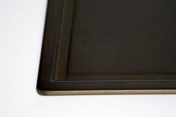 浅い縁が安心 縁広ランチョンマット緑 日本製 送料無料 写真その1