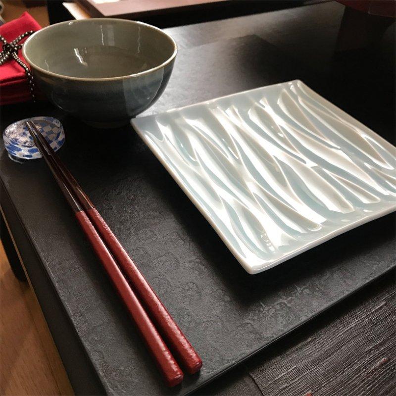 伝統工芸士こだわりの漆塗り箸 古代朱 贈り物に最適 写真その3