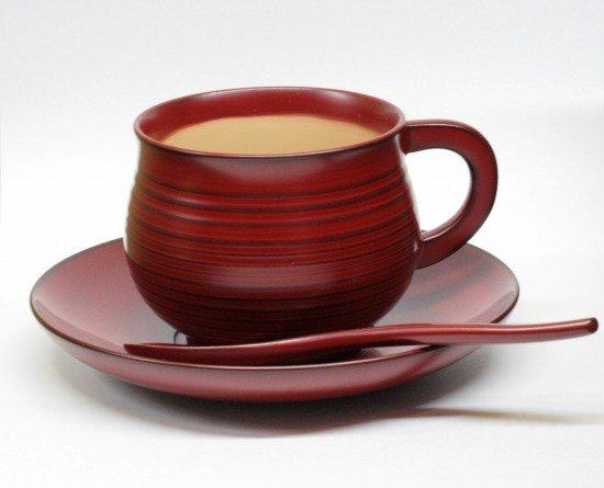 木の珈琲カップ古代朱でコーヒーが楽しめる日本製 送料無料/工芸品/通販/漆器/