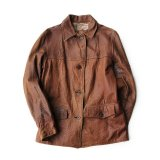 30's VINTAGE LEATHER JACKET ABOUT M