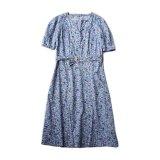 〜40s FLORAL PRINTED COTTON DRESS