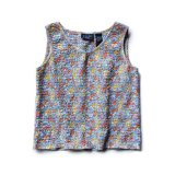 USED FLOWER PRINTED SLEEVELESS CUTSEW