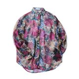 USED FLORAL PRINT SEE-THROUGH BLOUSE