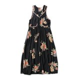 80s FLORAL PRINT SLEEVELESS MAXI DRESS