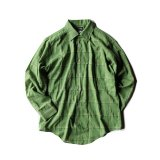 50-60s LOOP COLLAR CHECK SHIRT MENS M