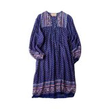 70s VINTAGE INDIA COTTON TUNIC DRESS SIZE S