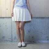 【セール70%オフ】アメリカ古着 80's[MICHEL]ホワイトギャザーミニスカート
