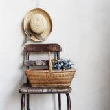 old Rattan basket