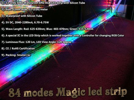 led strip light magic color 40leds,