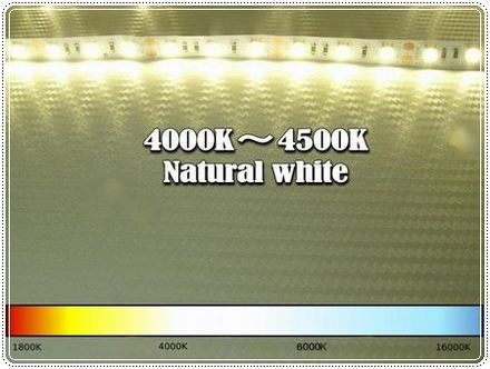 LED Kelvin temperature scale