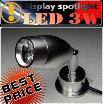 LEDショーケース用スポットライト/12v3w