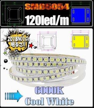 12v LEDテープライト5054 120個/m