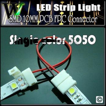2pin単色用LEDテープ Wコネクタ/10mm幅5050