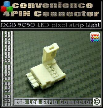 RGB LEDテープライト接続配線用コネクタ 4PIN付