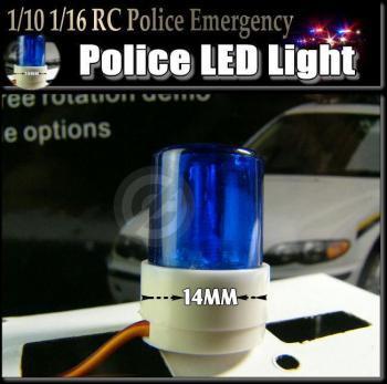 模型用「 LED パトライト」青色回転灯1/10