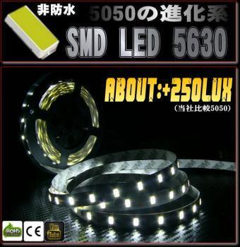 非防水 6500K LEDテープライト5630/300led/5M