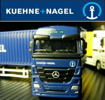 1/87  Diecast  ベンツ コンテナトレーラー Kuehne+Nagel.