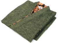 女性用 紬織り作務衣(さむえ) うぐいす(緑系) 綿100% サイズ:M/L