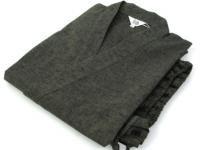 紬(つむぎ)織り 作務衣 緑色 男性用 サイズ:M/L/LL