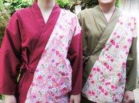 片柄(花柄) 作務衣 綿100% 女性用