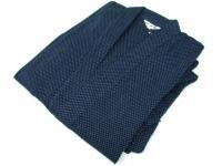 駿河絣(するががすり)作務衣 紺系 綿100%