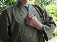 おすすめ作務衣 (S〜3L)男性用 モスグリーン