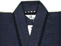 涼風おすすめ甚平 くずし織り(紺) 綿100%