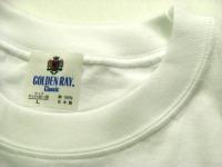 日本製 無地Tシャツ(白) ゴールデン・レイ