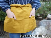 腰下ショート丈 和風エプロン 綿100% 日本製