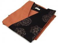 日本製 大島風片柄デザイン作務衣 サーモンピンク 綿100%