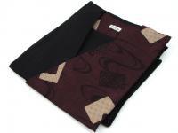 日本製 大島風片柄デザイン作務衣 黒/紫 綿100%