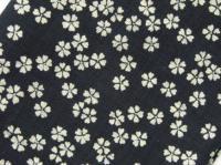バンダナキャップ 和風桜柄 濃紺 綿100% 日本製
