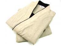 冬用 紬織り作務衣(裏地フリース) ベージュ 男性用