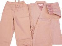 子供用の作務衣 (ピンク)(100�〜110�)