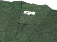 作務衣(さむえ)久留米織 グリーン 綿100% 女性用