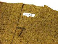 作務衣(さむえ)久留米織 カラシ  綿100% 女性用