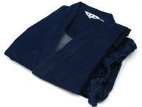 本格デニム作務衣(紺色) 綿100%